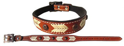 Showman Rawhide Dog Collar