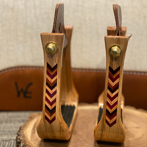 "Nettles Stirrups 2"" Comanche Inlay"