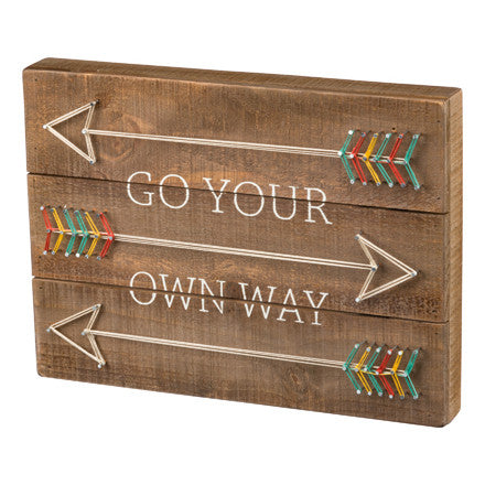 Go Your Own Way Arrow String Art Sign