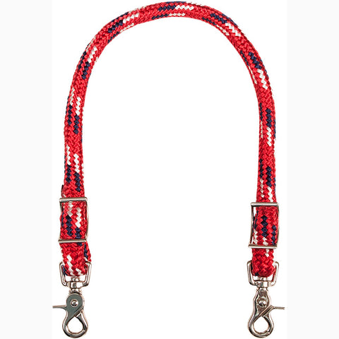 Mustang Red White and Navy Wither Strap