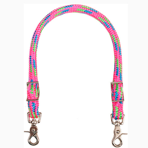 Mustang Pink Turquoise and Lime Wither Strap