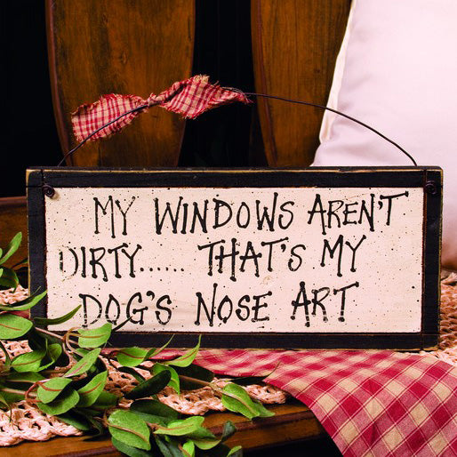 Dog's Nose Art Hanging Sign