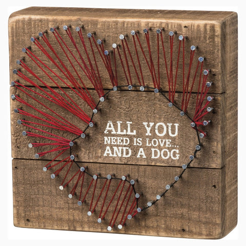 Love and a Dog String Art Sign