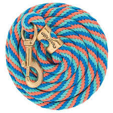 French Blue, Coral and Mint Poly Lead Rope
