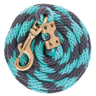 Weaver Turquoise and Grey 8' Poly Lead Rope with Snap