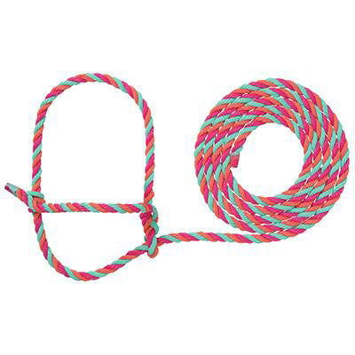 Weaver Leather- Hot Pink, Corral, and Mint Cattle Rope Halter