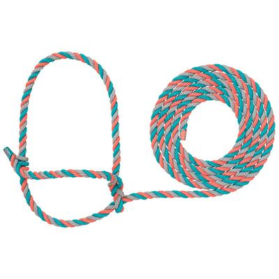 Weaver Leather- Corral, Grey, and Teal Cattle Rope Halter