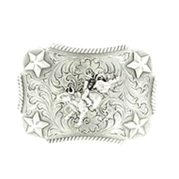 Nocona Youth Bull Rider Star Buckle