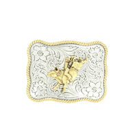 Youth Bull Rider Two Tone Buckle