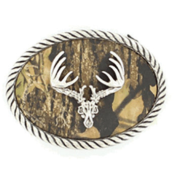 Mossy Oak Deer Skull Buckle