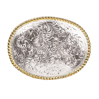 Nocona Men's Gold and Silver Filigree Buckle