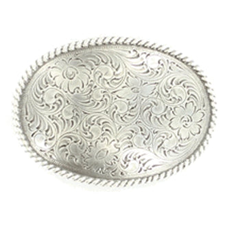 Nocona Antique Floral Belt Buckle