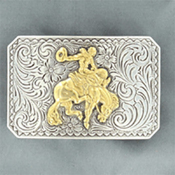 Bucking Horse Rectangle Buckle