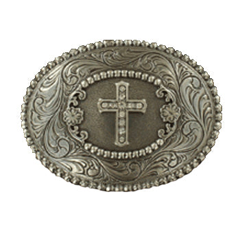 Rhinestone Cross Buckle