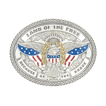 """Land Of The Free"" Buckle"