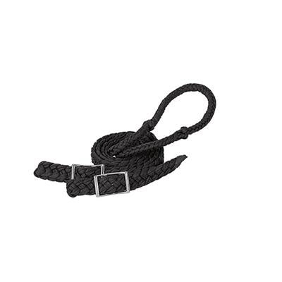 Weaver Leather Black Braided Barrel Reins