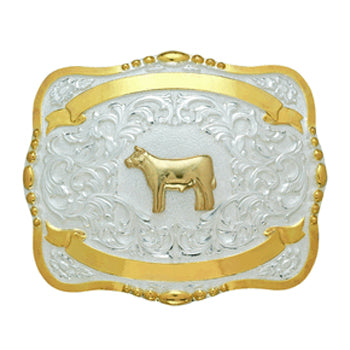 Large Trophy Cow Buckle