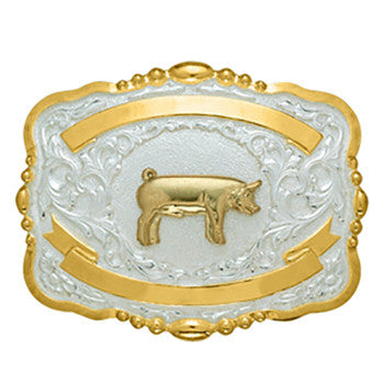 Small Trophy Pig Buckle