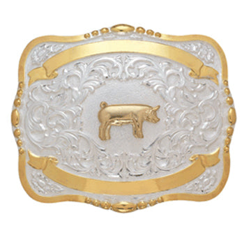 Large Pig Trophy Buckle