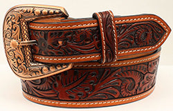 3D Men's Light Oil Chestnut Belt