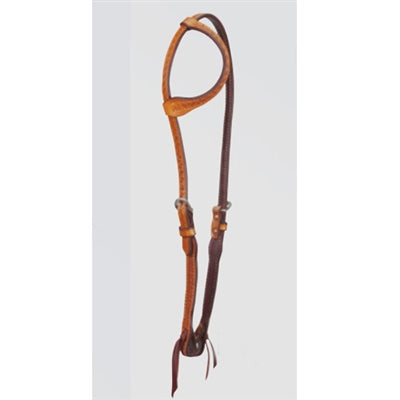 Cactus Saddlery Basket Stamp Slip Ear Headstall