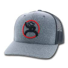 Hooey Grey and Black Roughy Snap Back Cap