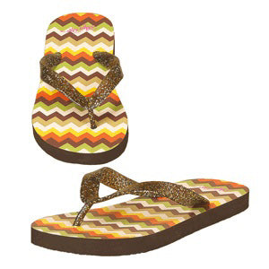 Women's Brown Chevron Tara Sandal