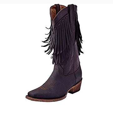 Ferrini Women's Desperado Chocolate Fringe Square Toe