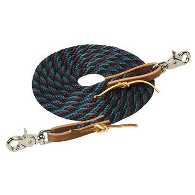 Weather Leaver Black, Blue, and Purple Roper Reins