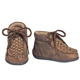 Double Barrel Toddler Carson Tan Weave Shoe