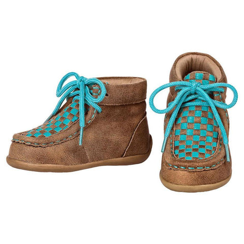 Blazin' Roxx Cassidy Turquoise Brown Weave Baby Mocc