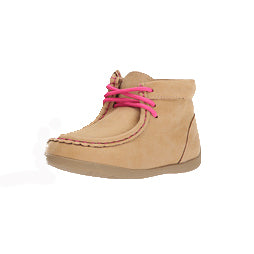Blazin' Roxx Kid's Tan and Pink Reagan Driving Moc