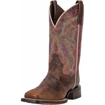 Dan Post Women's Chocolate Rose Square Toe Boot