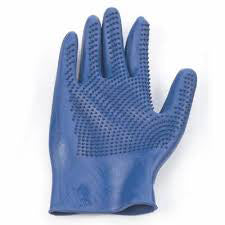 ERS Sapphire Curved Finger Grooming Glove