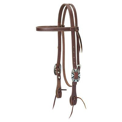 Weaver Leather Oiled Canyon Rose Browband Headstall