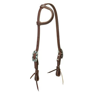 Weaver Leather Oiled Canyon Rose Sliding Ear Headstall