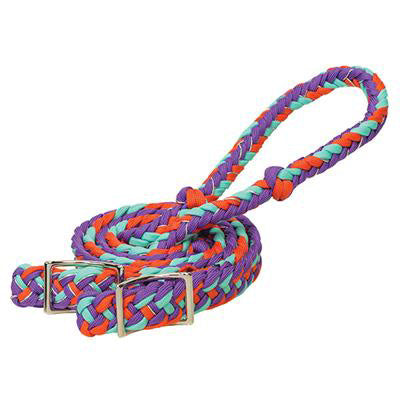 Weaver Leather Purple, Orange, Mint, Sparkle Braided Barrel Rein