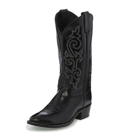 Justin Men's Black London Calf Western Boot