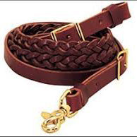8' Braided Leather Roping Rein