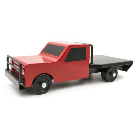 Little Buster Toys Red Flat Bed Farm Truck