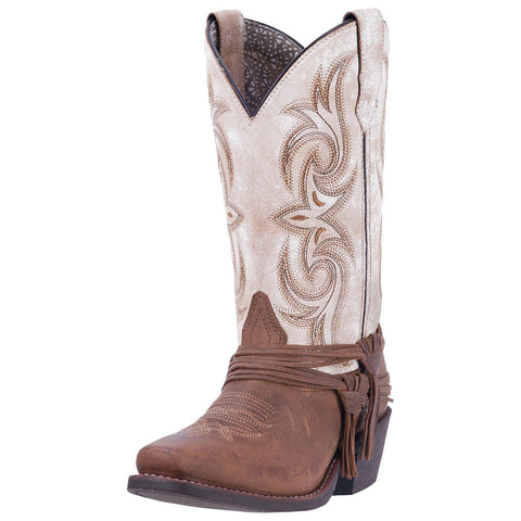 Laredo Women's White Myra Square Toe Boot