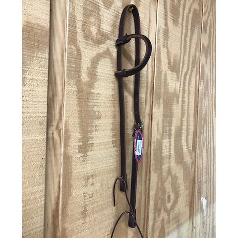 "HR 5/8"" Latigo One Ear Headstall"