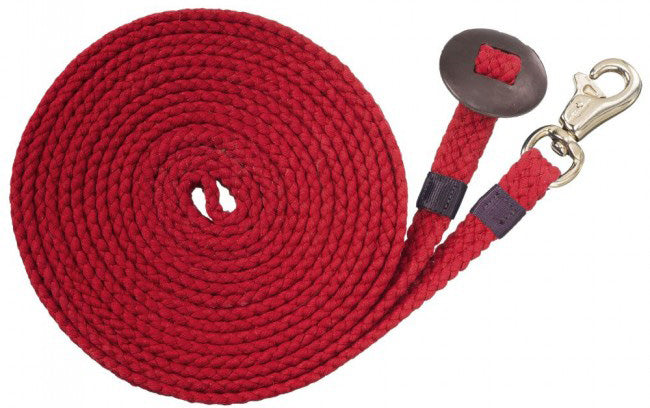 Tough-1 Flat Cotton Lunge Line - Red - 24 ft.