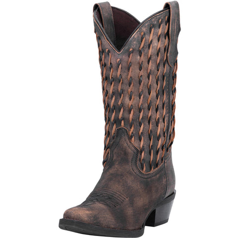 Laredo Women's Brown Twisted Aymee Snip Toe Boot