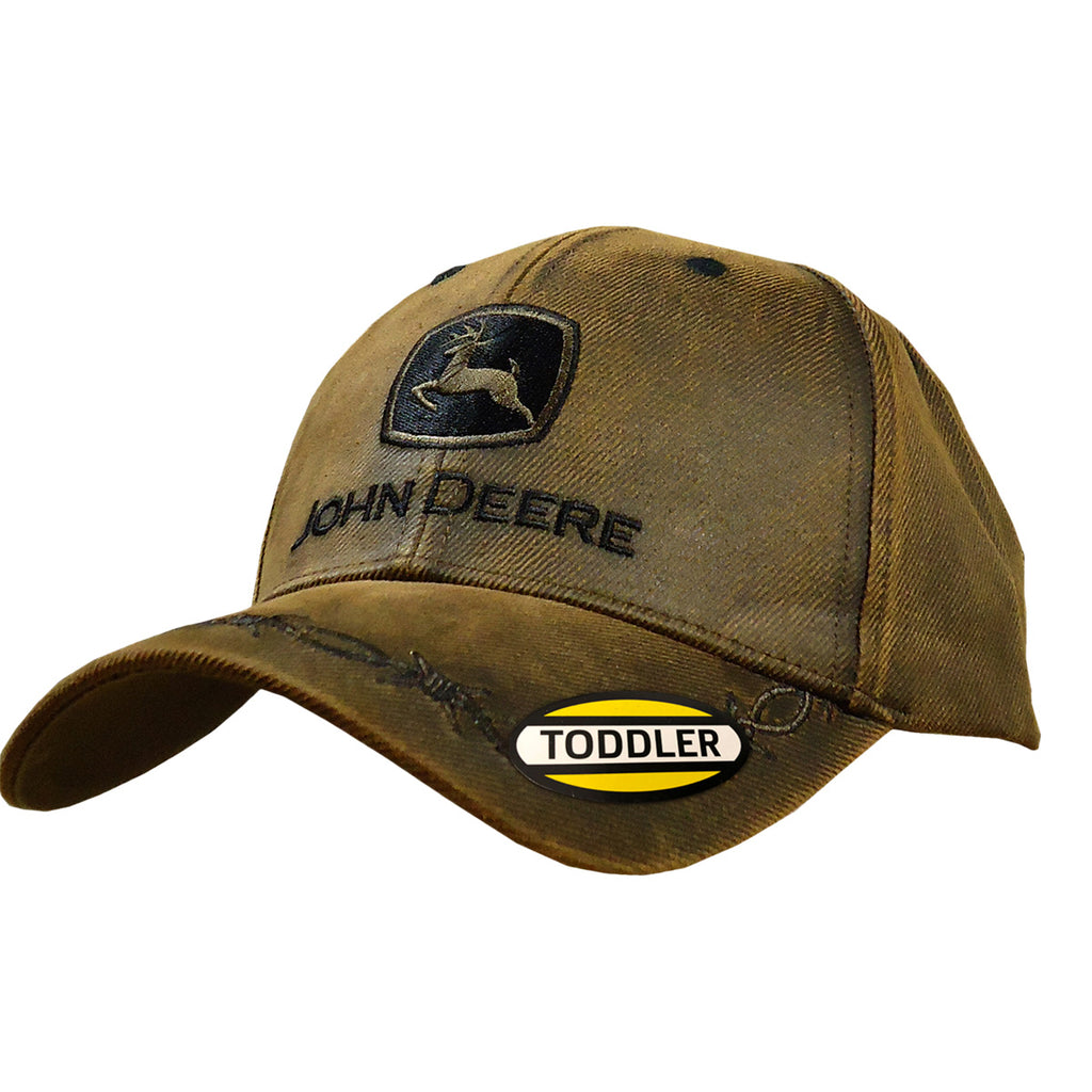 John Deere Toddler Brown Logo Barbwire Cap