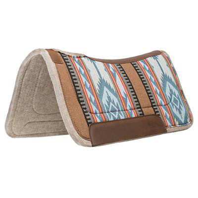 Weaver Leather Blue and Brown Felt Contoured Saddle Pad