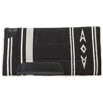 Weaver Leather Black and Grey Fleece Pony Pad