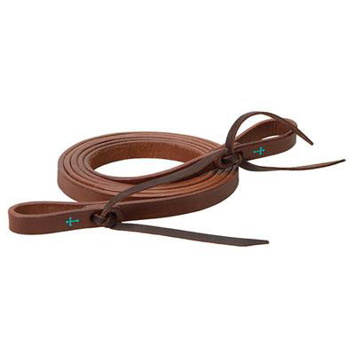 Weaver Leather Medium Oil Turquoise Cross Roping Reins