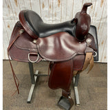 "Circle Y Tru Fit Trail Saddle with Black Seat and Shell Border, 17"" seat"