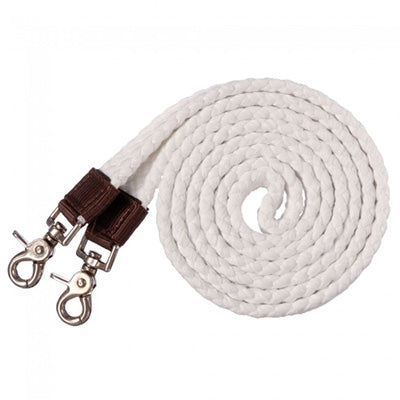 Tough 1 White Cotton Roping Reins